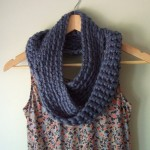 Blue Infinity Scarf - Long, Cerulean Color