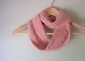 Pink Organic Infinity Scarf - Eco Friendly
