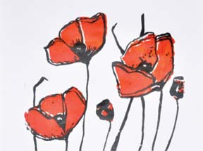 CeeCee Baublite Purely Poppies